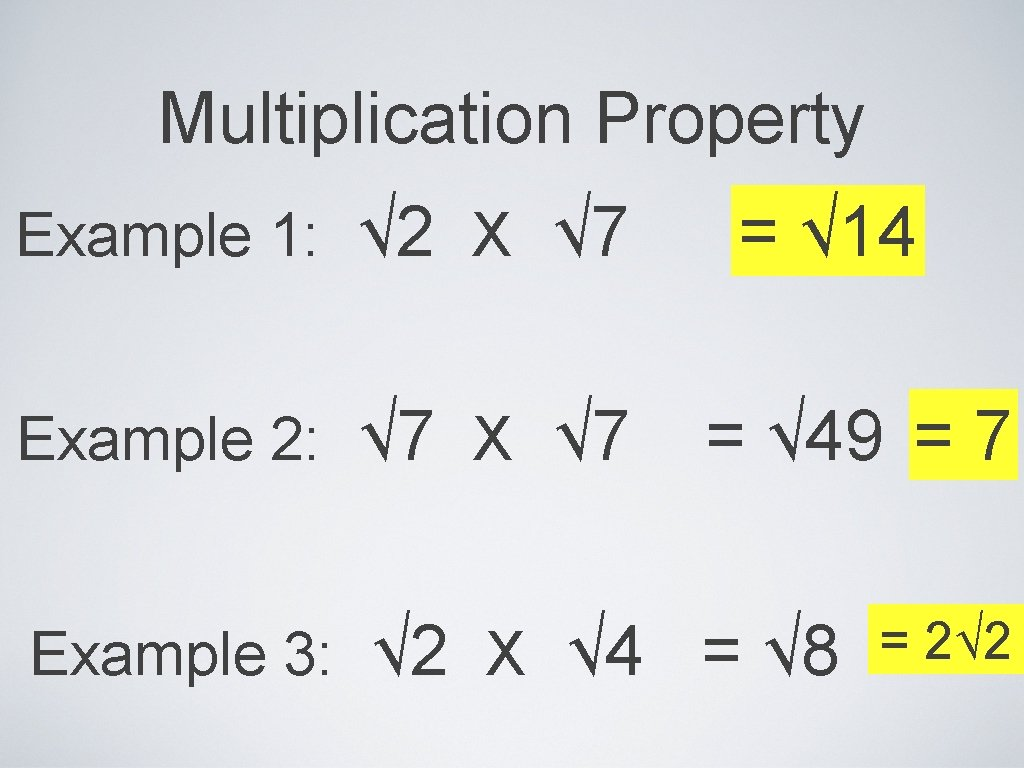 Simplifying Radicals Product Property 22 Example Simplify FACTOR In Simplifying Radicals Worksheet 1