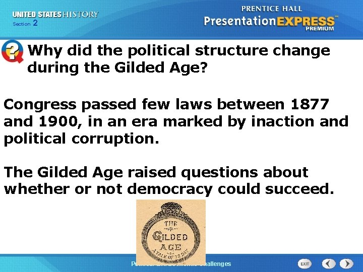 Chapter Section 2 25 Section 1 Why did the political structure change during the