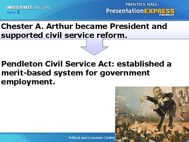 Chapter Section 2 25 Section 1 Chester A. Arthur became President and supported civil
