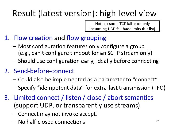 Result (latest version): high-level view Note: assume TCP fall-back only (assuming UDP fall-back limits