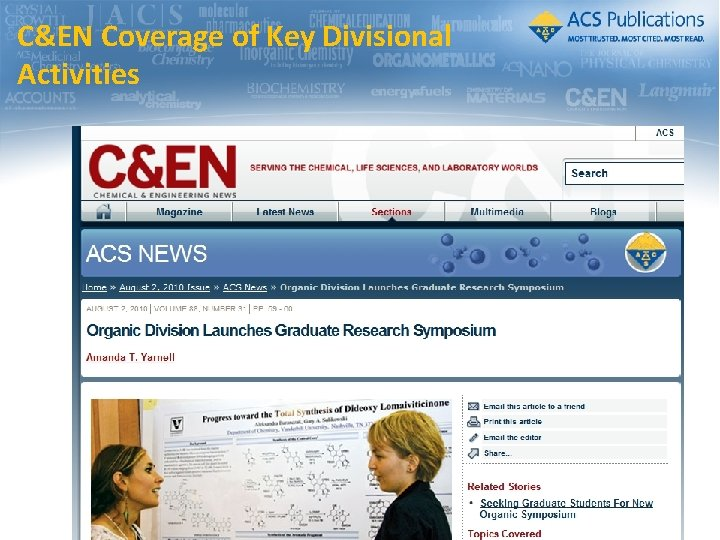 C&EN Coverage of Key Divisional Activities