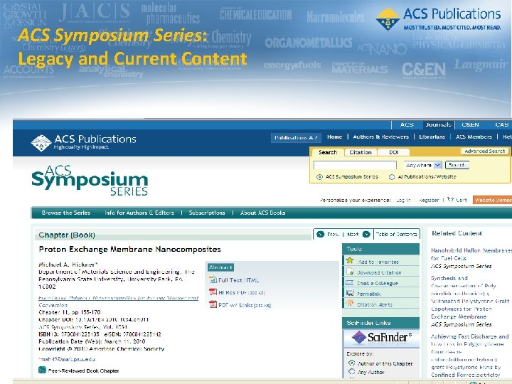 ACS Symposium Series: Legacy and Current Content