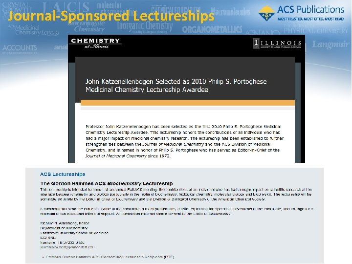 Journal-Sponsored Lectureships