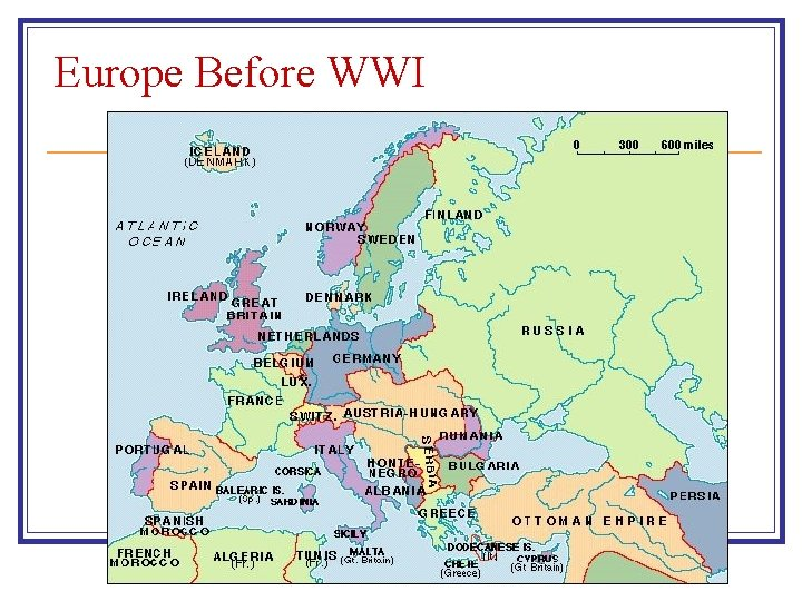 Europe Before WWI