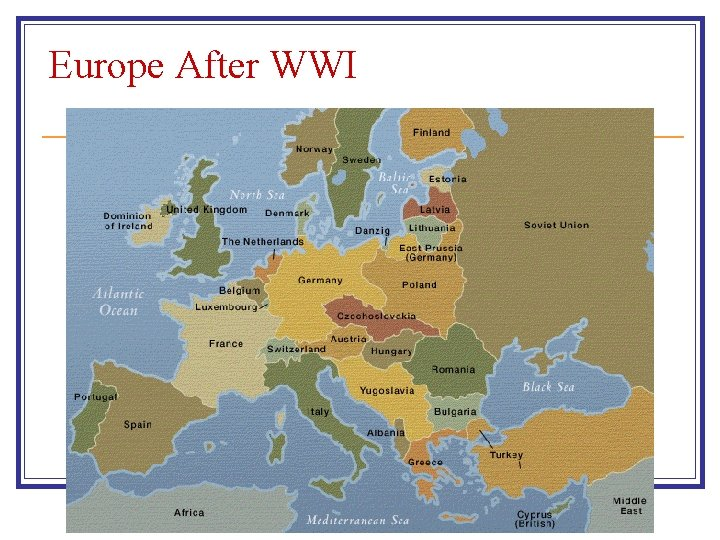 Europe After WWI