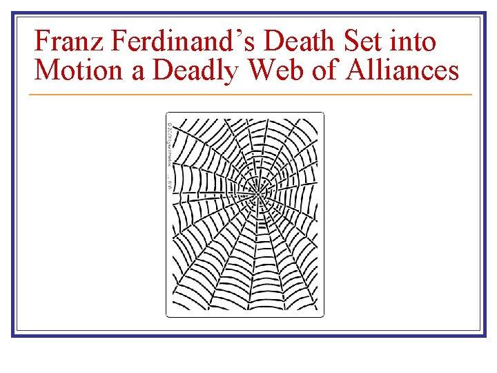 Franz Ferdinand's Death Set into Motion a Deadly Web of Alliances