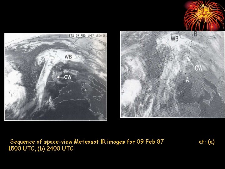 Sequence of space-view Meteosat l. R images for 09 Feb 87 1500 UTC, (b)