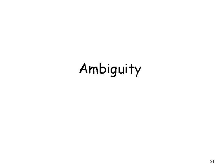 Ambiguity 54