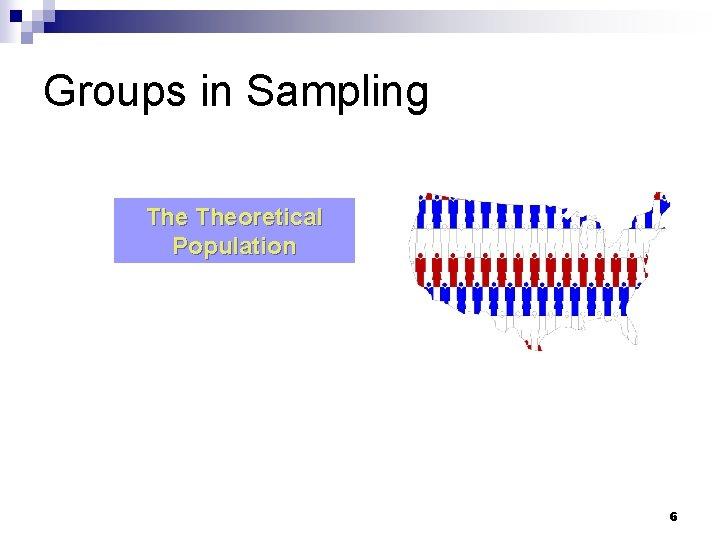Groups in Sampling Theoretical Population 6