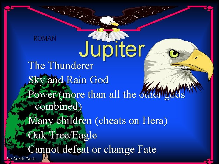 ROMAN Jupiter The Thunderer Sky and Rain God Power (more than all the other