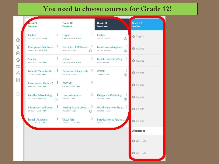 You. Grade need choose courses for 12!in. Your Thisto 9 should and 10 be
