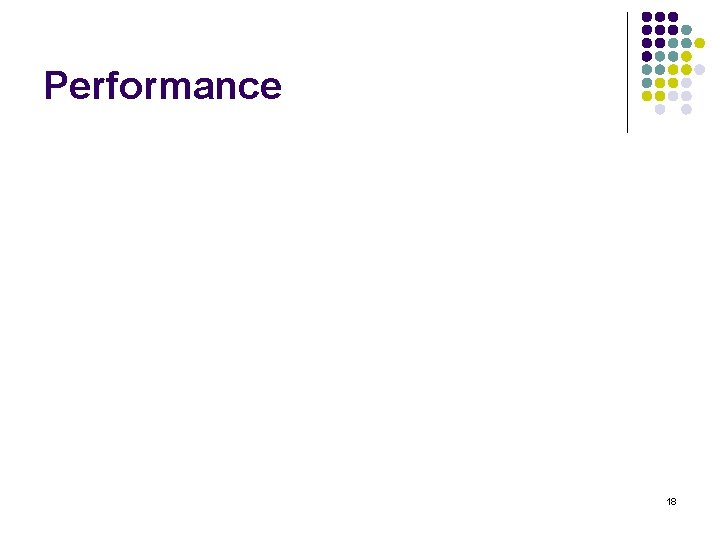 Performance 18