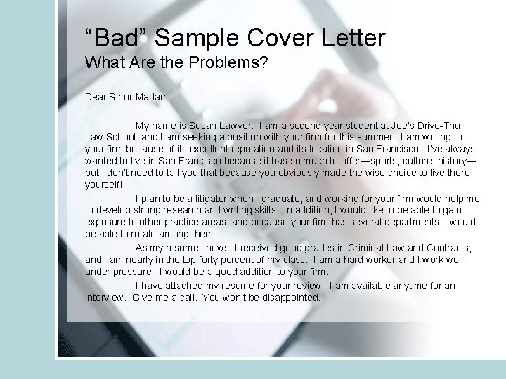 Cover Letters And Writing Samples Vicki Huebner Jd