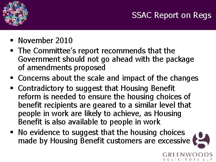 SSAC Report on Regs § November 2010 § The Committee's report recommends that the