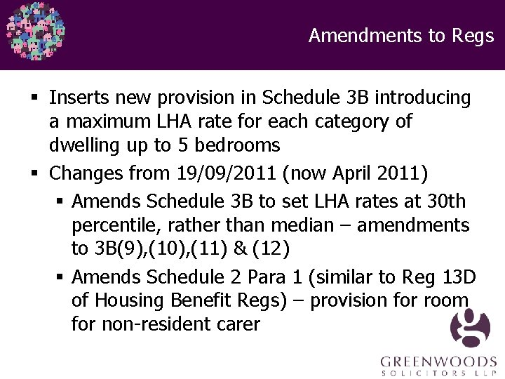 Amendments to Regs § Inserts new provision in Schedule 3 B introducing a maximum