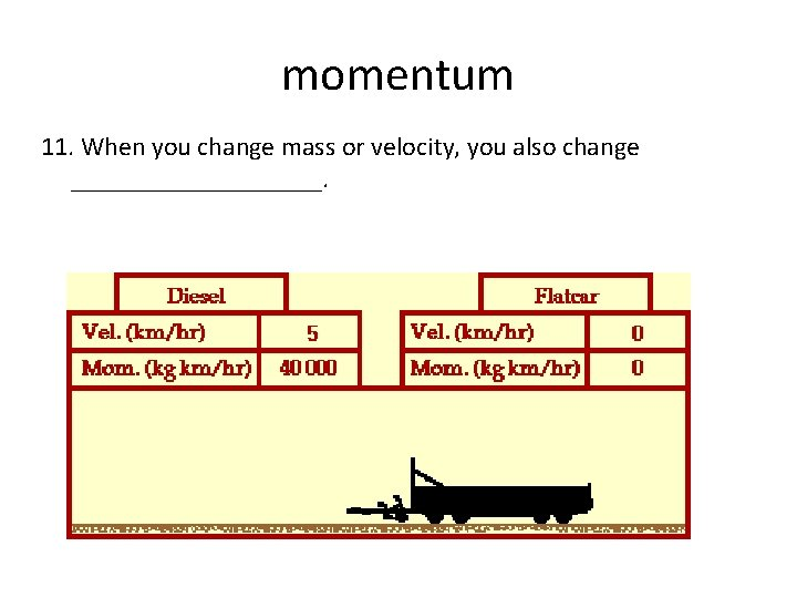 momentum 11. When you change mass or velocity, you also change __________.