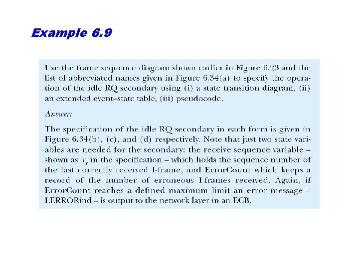 Example 6. 9