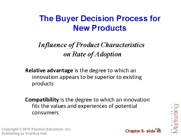 The Buyer Decision Process for New Products Influence of Product Characteristics on Rate of