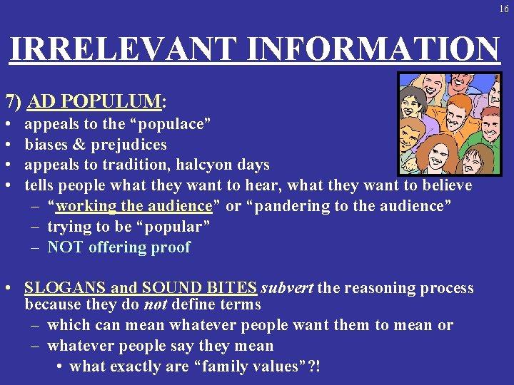 Argumentum ad populum exemple