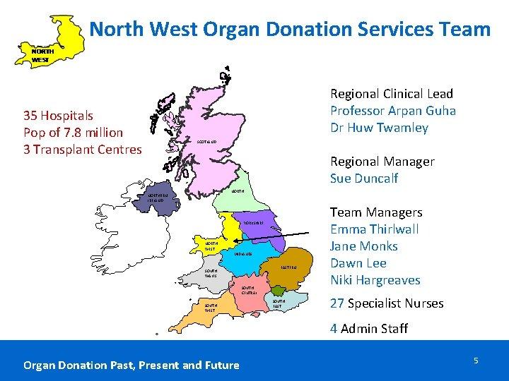 North West Organ Donation Services Team Regional Clinical Lead Professor Arpan Guha Dr Huw
