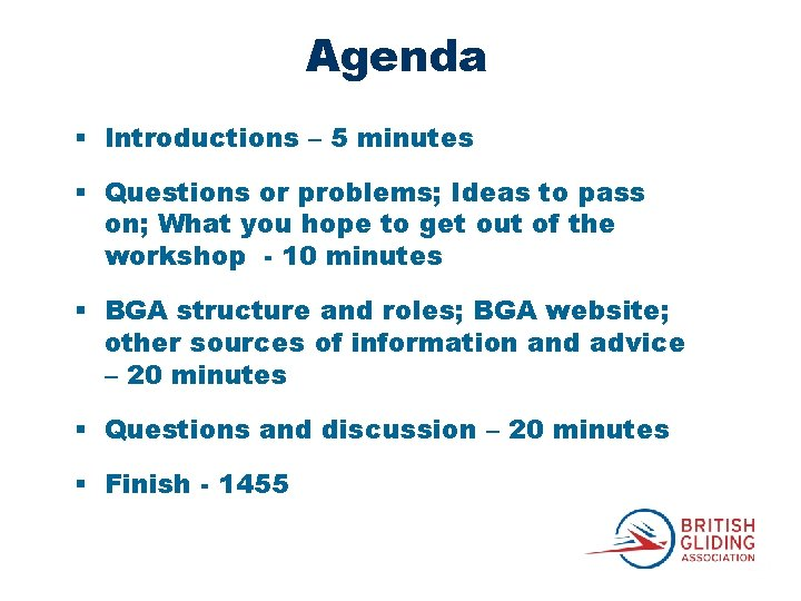 Agenda § Introductions – 5 minutes § Questions or problems; Ideas to pass on;