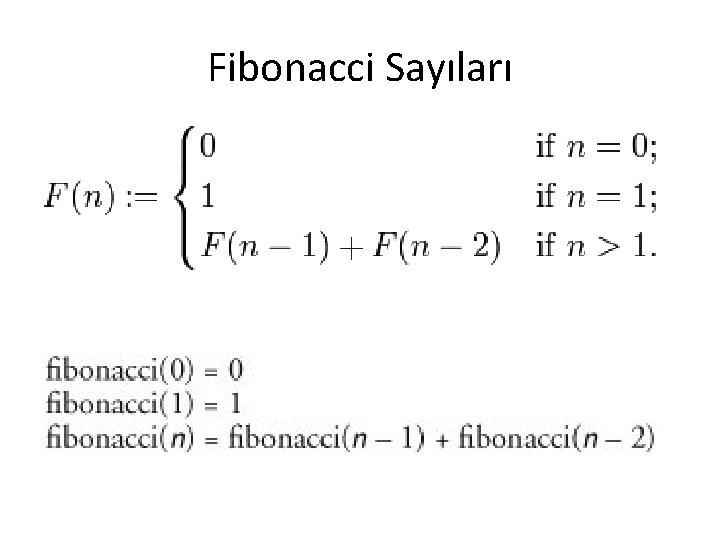 Fibonacci Sayıları