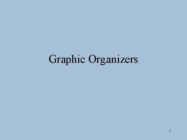 Graphic Organizers 1
