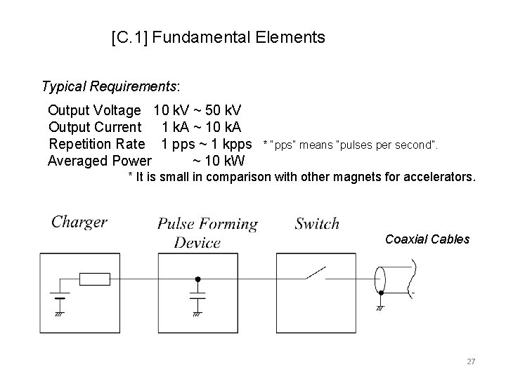 [C. 1] Fundamental Elements Typical Requirements: Output Voltage 10 k. V ~ 50 k.