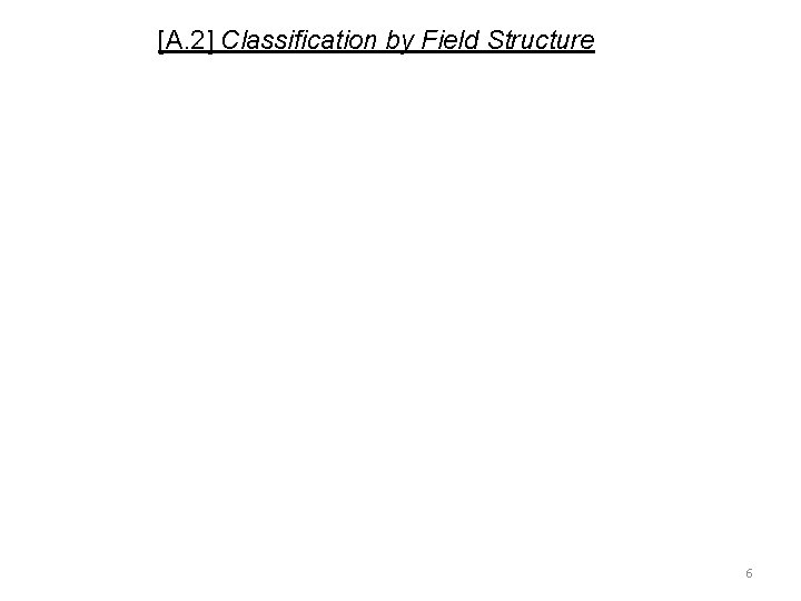 [A. 2] Classification by Field Structure 6