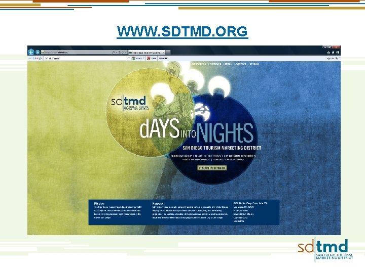 WWW. SDTMD. ORG