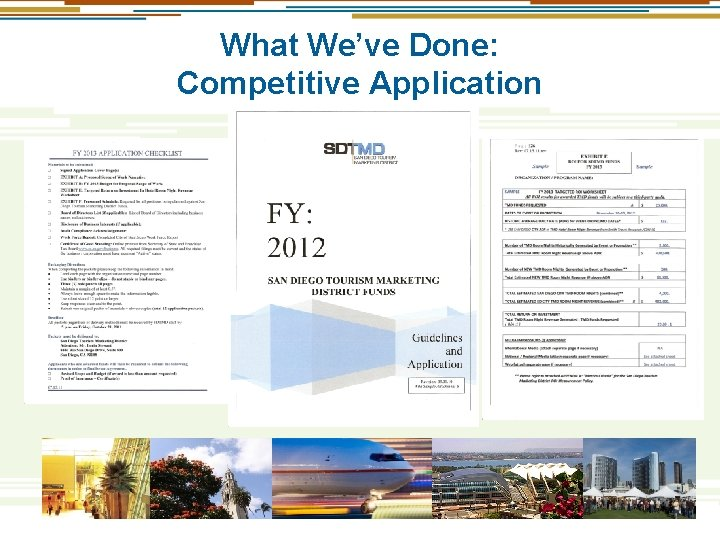 What We've Done: Competitive Application