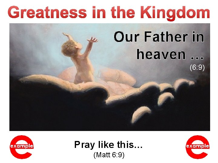 Our Father in heaven … (6: 9) Pray like this… (Matt 6: 9)