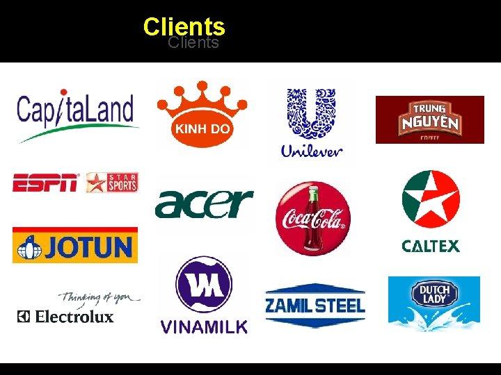 Clients Integrated BTL Marketing Communications