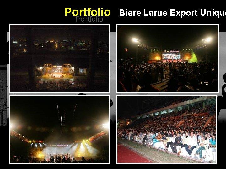 Portfolio Biere Larue Export Unique Integrated BTL Marketing Communications