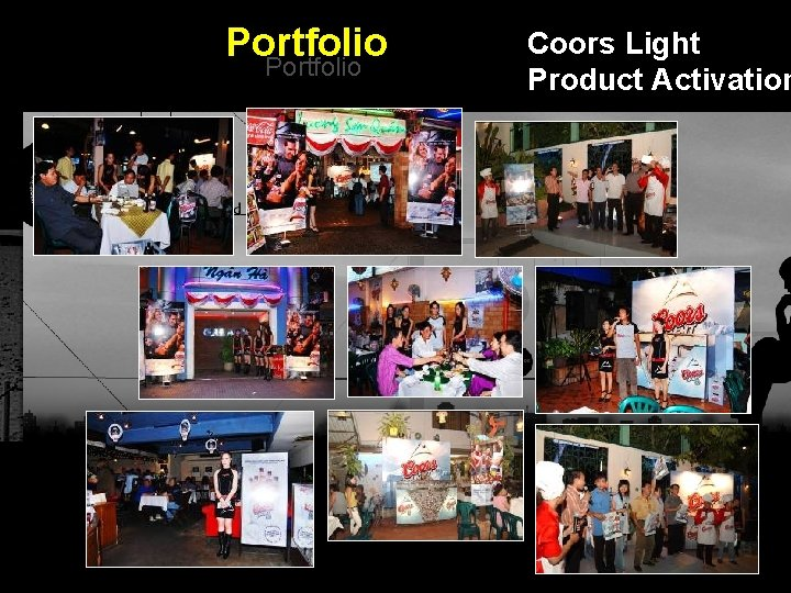 Portfolio Coors Light Product Activation Integrated BTL Marketing Communications