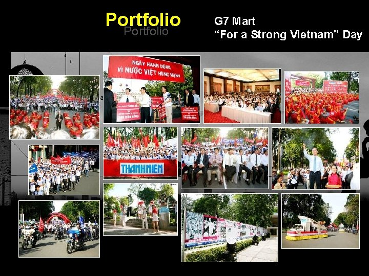 "Portfolio G 7 Mart ""For a Strong Vietnam"" Day Integrated BTL Marketing Communications"