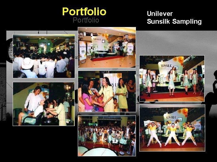Portfolio Unilever Sunsilk Sampling Integrated BTL Marketing Communications