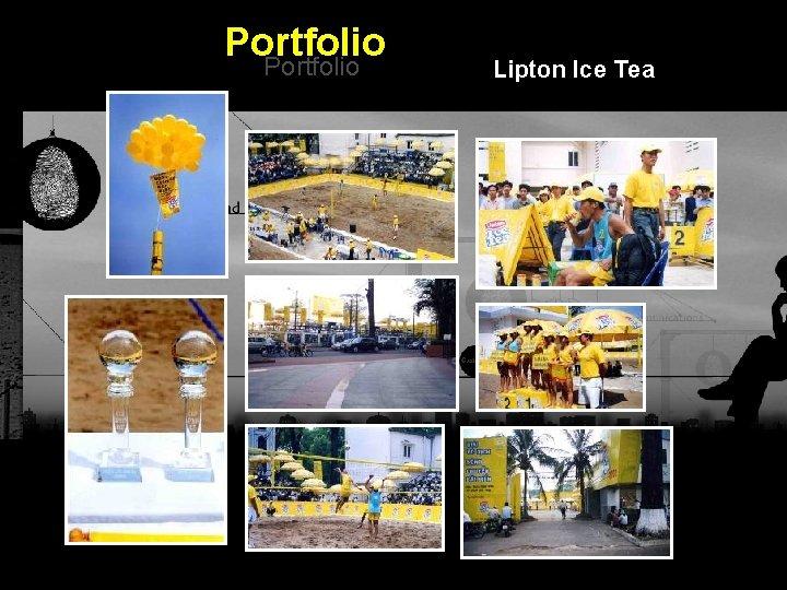 Portfolio Lipton Ice Tea Integrated BTL Marketing Communications