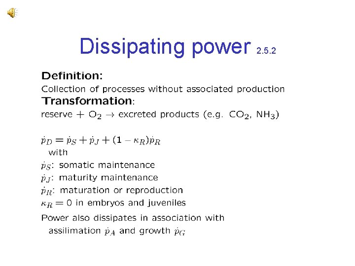 Dissipating power 2. 5. 2