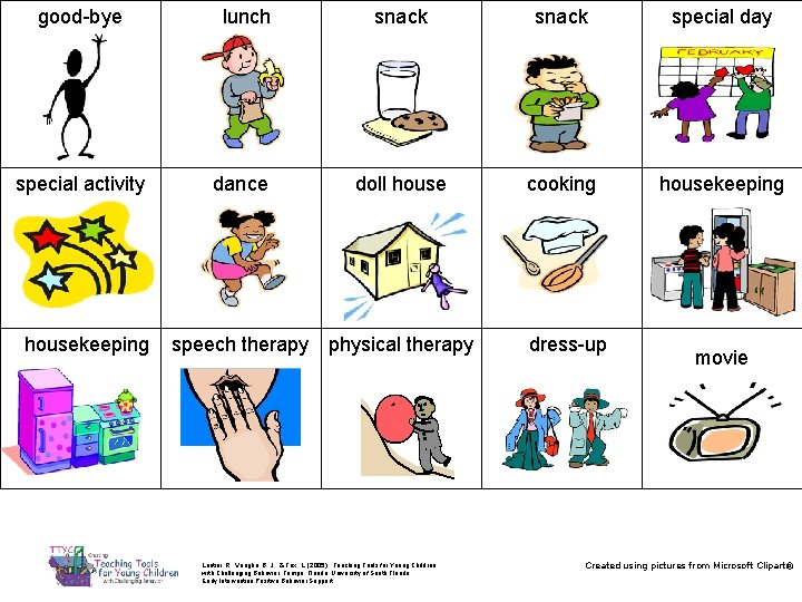 good-bye special activity housekeeping lunch dance snack special day doll house cooking housekeeping speech