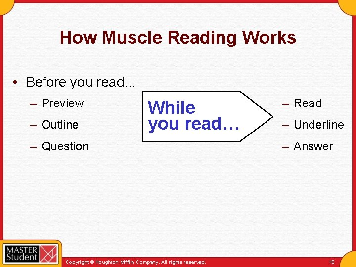 How Muscle Reading Works • Before you read… – Preview – Outline While you