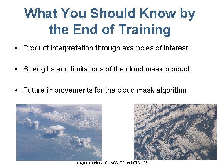 What You Should Know by the End of Training • Product interpretation through examples