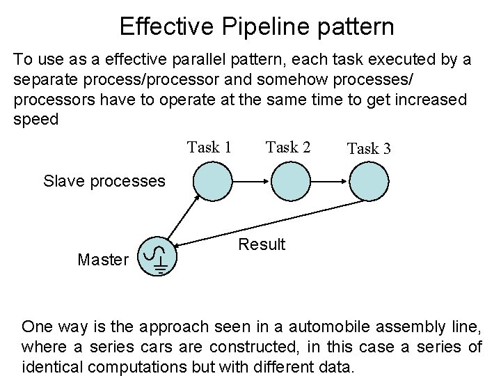 Effective Pipeline pattern To use as a effective parallel pattern, each task executed by