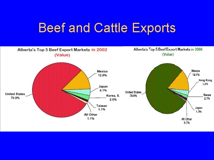 Beef and Cattle Exports