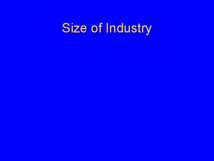 Size of Industry