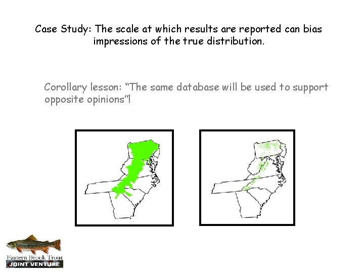 Case Study: The scale at which results are reported can bias impressions of the