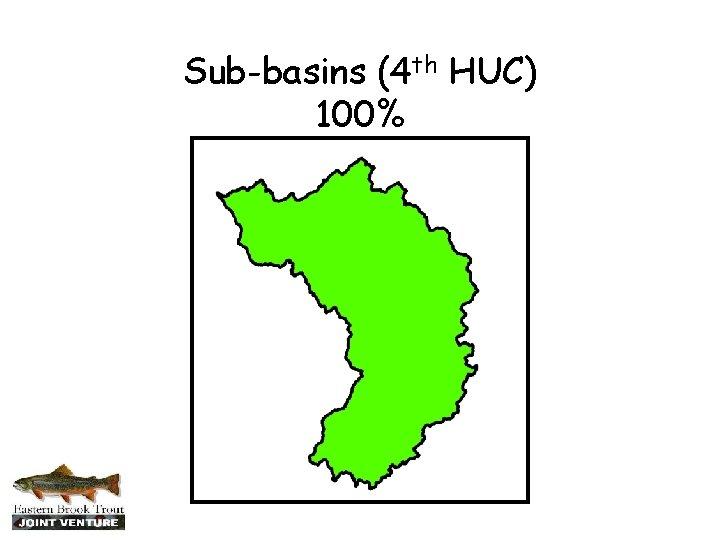 Sub-basins (4 th HUC) 100%