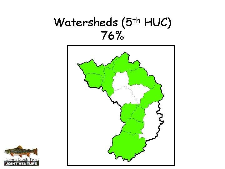 Watersheds (5 th HUC) 76%