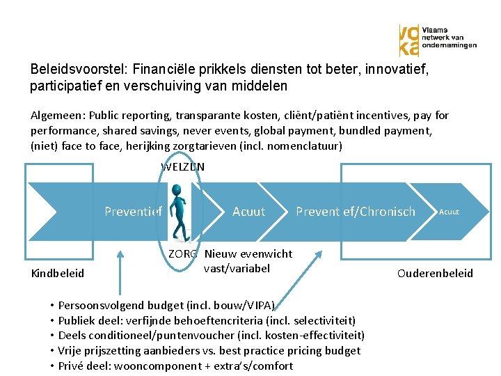 Beleidsvoorstel: Financiële prikkels diensten tot beter, innovatief, participatief en verschuiving van middelen Algemeen: Public