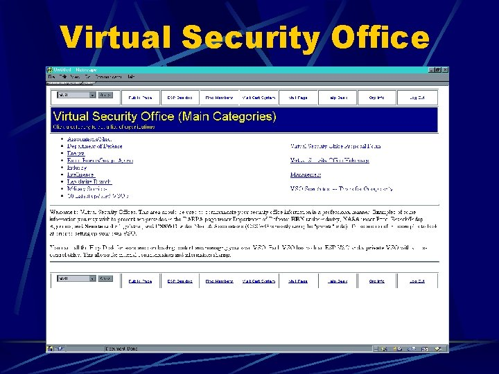 Virtual Security Office